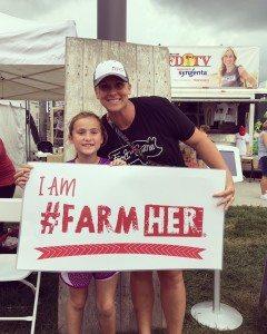 Cristen Clark and her daughter ~ Photo credit Food & Swine